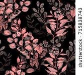 leaves seamless pattern.... | Shutterstock . vector #715838743