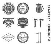 set of vintage vector logotypes ... | Shutterstock .eps vector #715839568