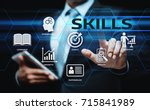 skill knowledge ability... | Shutterstock . vector #715841989