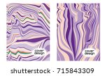 cover layouts collection with... | Shutterstock .eps vector #715843309