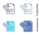 document with pen and... | Shutterstock .eps vector #715843966