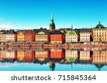 scenic summer panorama of the...   Shutterstock . vector #715845364