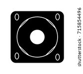 flat black sound system icon | Shutterstock .eps vector #715854496