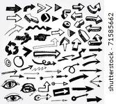 big set of doodled arrows | Shutterstock .eps vector #71585662