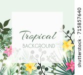 abstract natural tropical frame ... | Shutterstock .eps vector #715857640