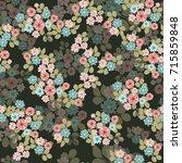 vintage feedsack pattern in... | Shutterstock . vector #715859848