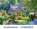 a perfect neighborhood. houses... | Shutterstock . vector #715860823