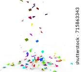 bright and colorful confetti... | Shutterstock . vector #715863343
