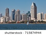 view on san diego downtown from ... | Shutterstock . vector #715874944
