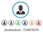 engineer icon. vector... | Shutterstock .eps vector #715875274