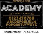 script handcrafted vector... | Shutterstock .eps vector #715876066