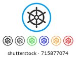 boat steering wheel icon.... | Shutterstock .eps vector #715877074
