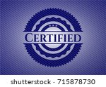 certified denim background | Shutterstock .eps vector #715878730