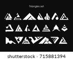 modern geometric triangle icon...   Shutterstock .eps vector #715881394