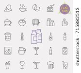 linear drinks icons set.... | Shutterstock .eps vector #715882513