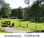 Small photo of Meadow on river Agger, Germany