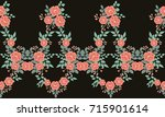 seamless folk border in small... | Shutterstock . vector #715901614