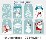 christmas labels  template | Shutterstock .eps vector #715902844