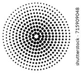 circle dot patterns  dotted... | Shutterstock .eps vector #715909048