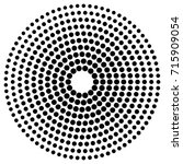 circle dot patterns  dotted... | Shutterstock .eps vector #715909054