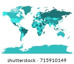 world map in four shades of... | Shutterstock .eps vector #715910149