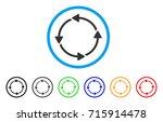 circular route icon. vector... | Shutterstock .eps vector #715914478