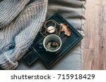 still life details of living... | Shutterstock . vector #715918429