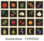 fruits and vegetables symbols | Shutterstock .eps vector #71592010