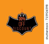 halloween discount tag   Shutterstock .eps vector #715926598