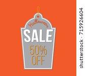 halloween discount tag   Shutterstock .eps vector #715926604