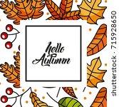 hello autumn season greeting... | Shutterstock .eps vector #715928650