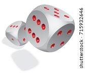 two 3d dices. vector istock... | Shutterstock .eps vector #715932646