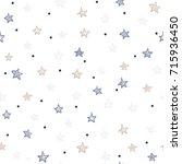star seamless pattern   Shutterstock .eps vector #715936450