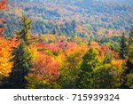 scenic autumn landscape in new... | Shutterstock . vector #715939324