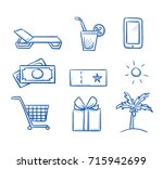 set with different benefits and ...   Shutterstock .eps vector #715942699