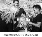 Small photo of NEW YORK, NY - September 11, 2017: Anne-Sophie Monrad prepares backstage for the Zadig & Voltaire Spring Summer 2018 fashion show during New York Fashion Week Women's