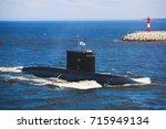a line of modern russian...   Shutterstock . vector #715949134
