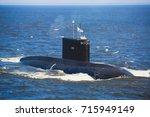 a line of modern russian... | Shutterstock . vector #715949149