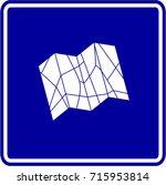 folding map sign | Shutterstock .eps vector #715953814