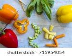 fresh vegetables for chinese... | Shutterstock . vector #715954054