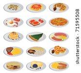 big food set | Shutterstock .eps vector #71595508