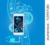 fintech  financial technology... | Shutterstock .eps vector #715957180