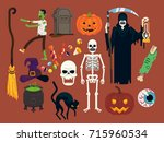set of high quality vector... | Shutterstock .eps vector #715960534