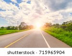 road to success concept. | Shutterstock . vector #715965904