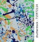 seamless paint splatter pattern | Shutterstock .eps vector #715972114