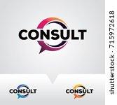 consulting logo template design ... | Shutterstock .eps vector #715972618