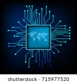 binary circuit future... | Shutterstock .eps vector #715977520