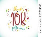 thanks 10k followers logo... | Shutterstock .eps vector #715983640