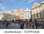 prague  czech republic   july... | Shutterstock . vector #715991836