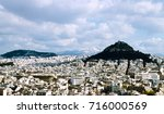 aerial view of mount lycabettus ... | Shutterstock . vector #716000569
